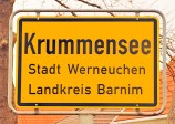 Ortseingangsschild Krummensee