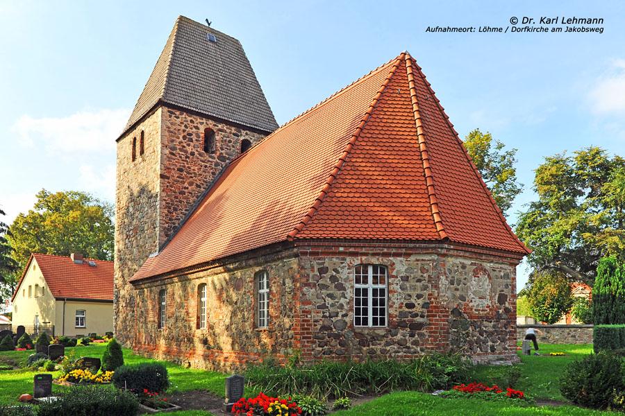 Rundweg Löhmer Haussee Kirche Löhme