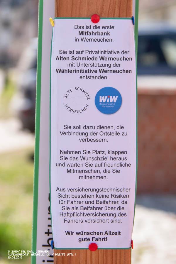 Mitfahrbank Werneuchen, Breite Str. 1