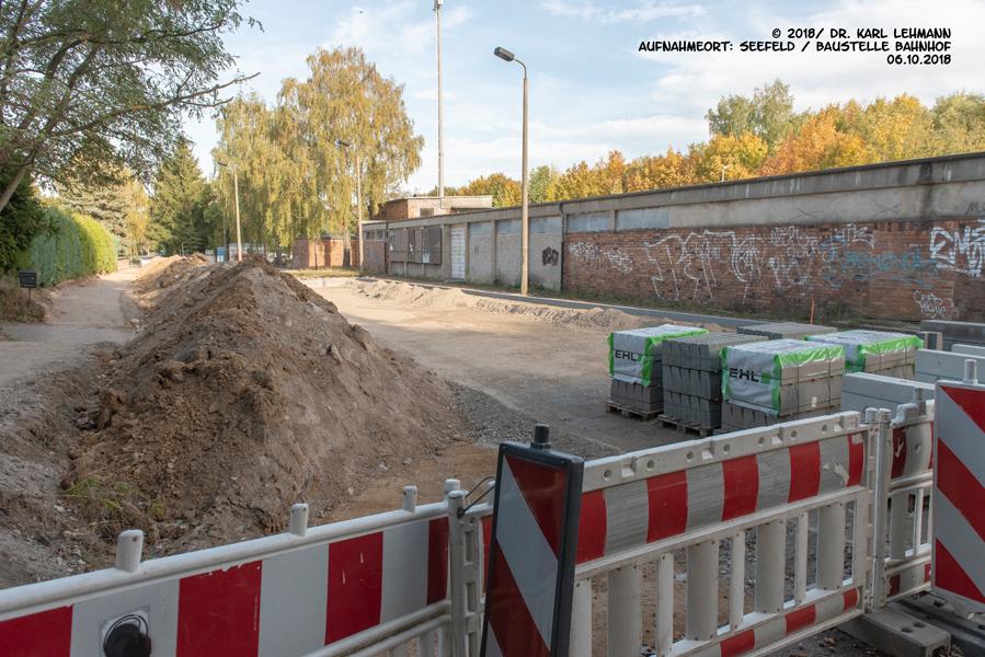 Bauarbeiten Bahnhof Seefeld
